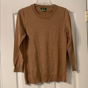 J. Crew tan sweater size medium